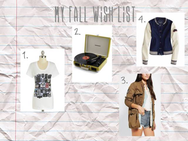 fall wishlist